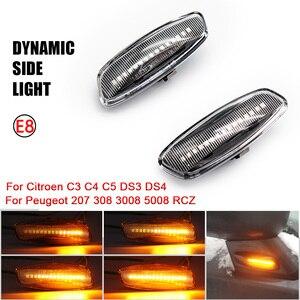 Image 1 - 시트로엥 C3 C4 C5 DS3 DS4 푸조 207 308 3008 5008 RCZ 다이나믹 LED 사이드 마커 램프 턴 시그널 라이트 블링커