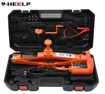 E-HEELP 12V DC 5T(6600lb) Electric Car Jack And Electric Impact Wrench with Double Saddles for Vehicle And SUV Orange