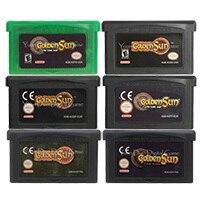 32ビットビデオゲームカートリッジコンソールカード黄金の太陽シリーズ米国/euバージョン任天堂gba