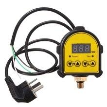 Dijital otomatik hava pompası su yağ kompresörü basınç kontrol anahtarı su pompası/kapalı Au tak