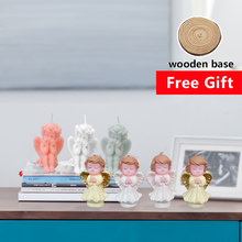 Nordic Style Soy Candle 3D Cute Angel Scented Fragrance Birthday Party Christmas Gift Candles For Cake Candles Home Decoration