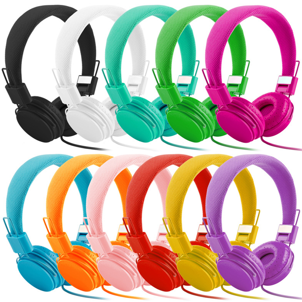 Kids Headphones Children Girls Boys Teens Adults Foldable Adjustable On Ear Headsets 3.5mm Compatible Pad Cellphone Computer MP3
