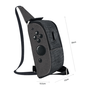 Image 5 - OIVO Storage Bag for Nintendo Switch Console Controller Waterproof Denim Backpack USB Charging Port Large Space Crossbody Bag