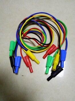 20PCS 5 color Test Cable silicone Voltage 4mm Banana plug TO 4mm Banana plug New