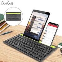 Tastiera Bluetooth Wireless Dual Connect per iPad Mini PC tastiera portatile per iPhone Samsung Xiaomi Tablet Computer cellulare