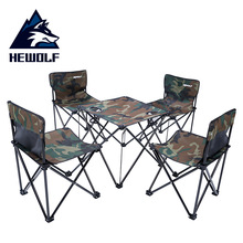 Chairs-Set Hewolf Camping Dining-Tables Folding Travel Picnic Outdoor Portable And Self-Driving