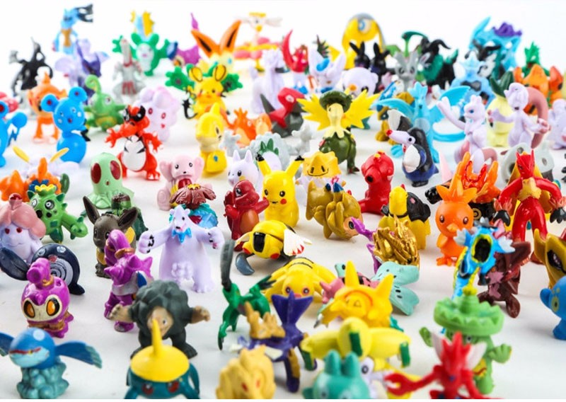 144 Different Styles 2.5-3cm Action Figures Toys Anime Pokemones Figures Cartoon Figure Toys Birthday Gifts For Kids 24pcs/bag