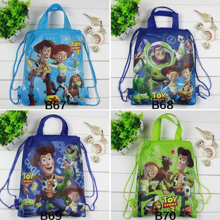 Anime Disney Toy Story bolsa de almacenamiento Woody Buzz Lightyear Jessie figura de acción mochila de juguete decoración de fiesta niños regalos de navidad juguete