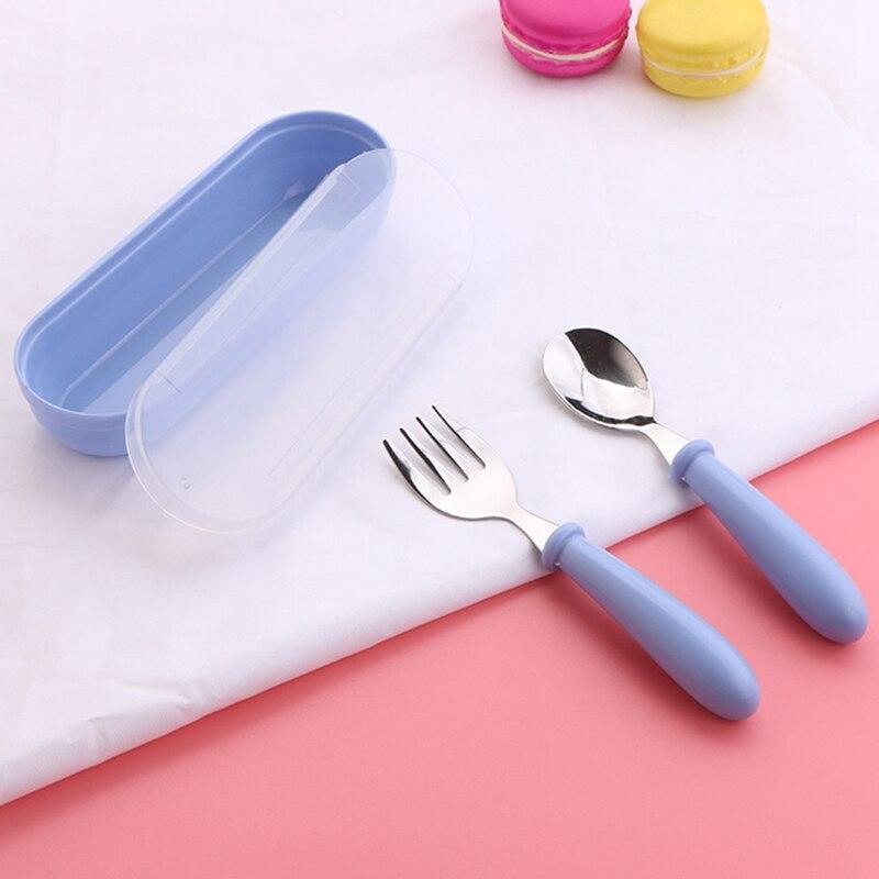 3 шт. детская ложка, вилки, коробка для детей из нержавеющей стали, детские столовые приборы, портативная посуда для кормления детей, детские ложки, набор детской посуды