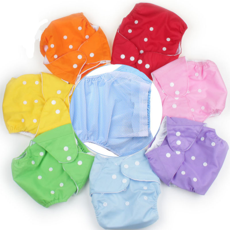 2020 Cheap Soft Washable Diaper Inserts Cloth Nappies Cover Training Pants Cover Newborn Baby Diapers Lot Reusable Winter Summer