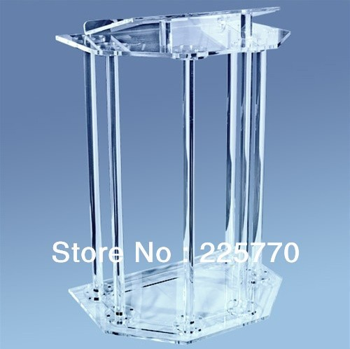Acrylic Pulpit / Crystal Acrylic Church Lectern / Perspex Pulpit Furniture Plexiglass