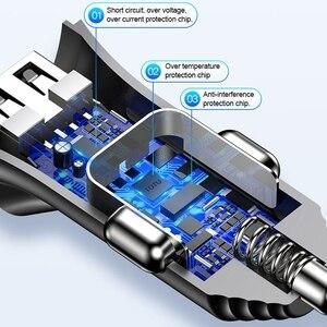 Image 5 - Cargador de coche TOTU 3 en 1, Cable de carga de teléfono, USB para Lightning Micro USB + tipo C 5V 3.4A, cargador de coche USB para iPhone, Xiaomi, Huawei