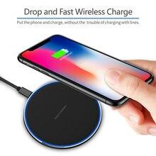1pc 10w qi carregador sem fio para iphone 11 pro xs carregamento rápido para samsung xiaomi indução de carregamento sem fio almofada espelho