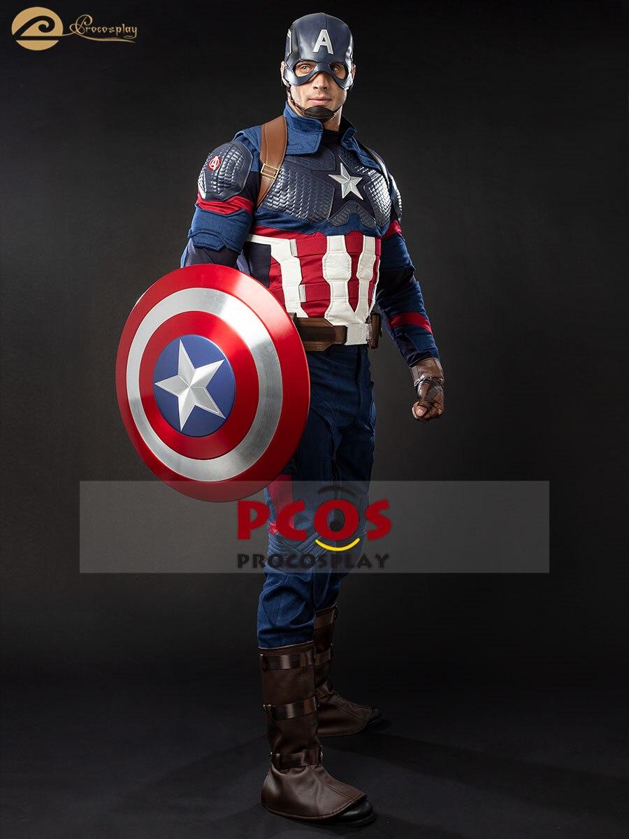 ProCosplay Avengers : Endgame Captain America cosplay Superhero Idol halloween costume for men No Shield Hero Sexy butt 004310