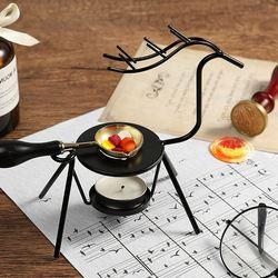 2PCS/Set Wax Seal Melting Craft Supplies Warmer Kit Furnace With Spoon Elk Shape For Sealing Stamp Candle Making Wax Melting Kit