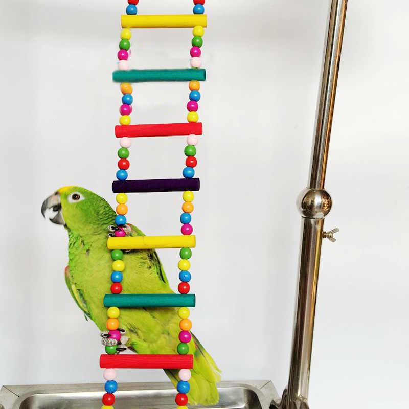Uccelli Animali Domestici Forniture di Uccelli Appesi Palline Colorate di Arrampicata Giocattolo 1 Pcs Pappagalli Scale Con Naturale di Legno Giocattoli di Uccelli