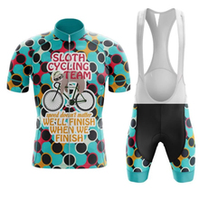 2019 SLOTH CYCLING TEAM Quick Dry cycling sets short sleeve cycling Suit Road Bicycle clothes cycling Wear GEL Breathable Pad cheap max storm 100 Polyester Fits smaller than usual Please check this store s sizing info Factory Direct Sales Summer Full