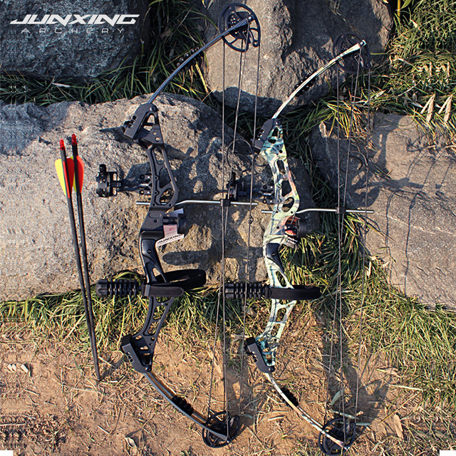 Junxing Archery 35-55 Lbs Compound Bow And Arrow Set, 310FPS, 70% Labor Saving Rate, Shooting Hunting Accessories 3