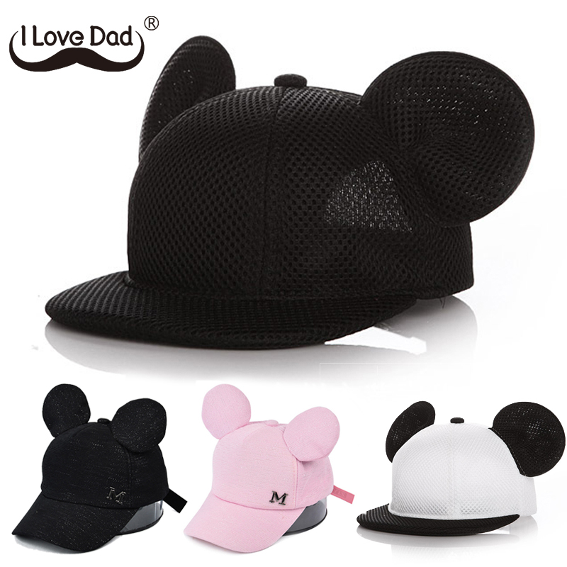 Ears Baby Boy Sun Hat Children Snapback Baseball Cap Summer Kids Boys Girl Hat autumn Beanie Bucket Caps Casquette Enfant(China)