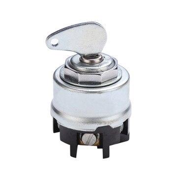 Carprie interruptor de coche Universal 24V 100A 6 posiciones interruptor de arranque de encendido del vehículo con llave interruptor de arranque de encendido del coche