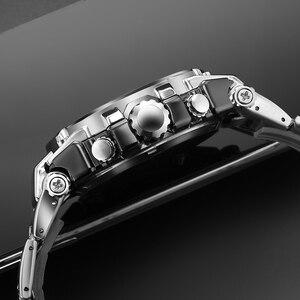 Image 5 - Relógios de pulso dos homens dos esportes led digital relógio de quartzo prata moda à prova dwaterproof água relógio topo marca de luxo cronógrafo masculino relógios