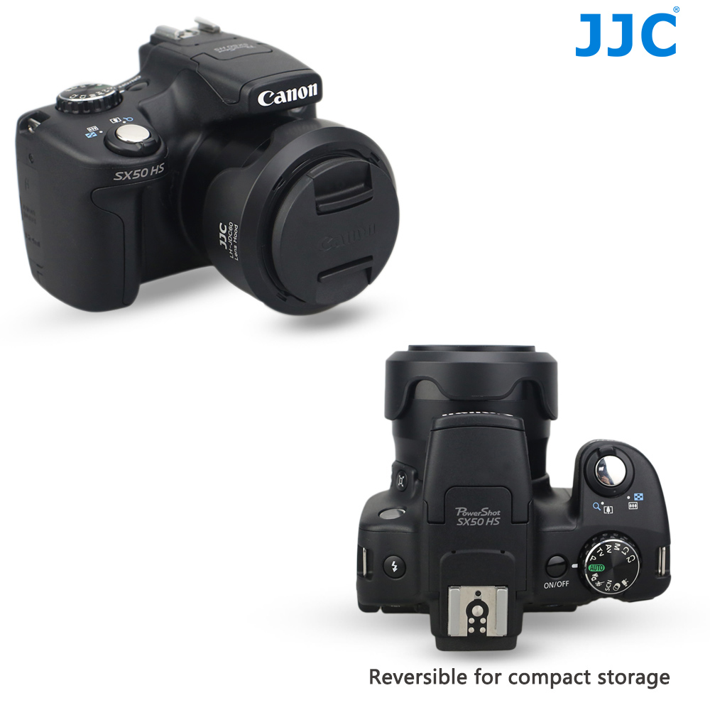JJC replacement Canon LH-DC60 Lens Hood for Canon PowerShot SX1 IS SX30 IS SX40 HS SX20 IS SX10 IS SX50 HS