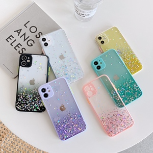 LACK Candy Color Gradient Glitter Crystal Phone Cases For iphone 11 Pro Max XR X XS 7 8 Plus SE 2020 Shiny Sequin Clear Cover