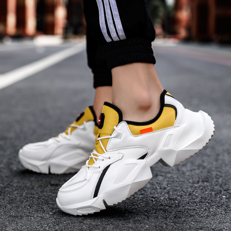 GNOME Harajuku Style Men Sneakers Non-Slip Thick Bottom Dad Shoes Men Fashion All Match Rubber Shoes Ins Hot Sell Sneakers