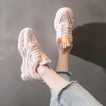 Pink Shoes Casual women's Fashion Sneakers Platform Chunky Shoes Mesh Breathable White Shoes Woman Vulcanize Shoes habuckn 2020 new white leisure sneakers women shoes chunky sneakers platform vulcanize shoes woman breathable mesh sequins