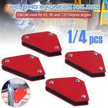 1pcs 25LBS Welding Magnetic Holder Strong Magnet 3 Angle Arrow Welder Positioner Power Soldering Locator Tool