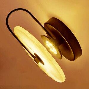 Image 2 - Zerouno Новый мраморный настенный светильник для комнаты 16 см 25 см светодиодный настенный светильник s черный золотой промышленный Современный Мраморный Настенный светильник светильники