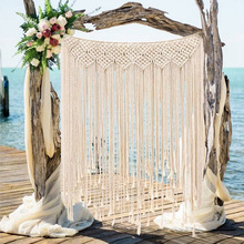 Tassel Tapestry Handmade Large Woven Wall Tapestry Large Boho Wedding Backdrop Beautiful Banner 100x115cm Wall Hanging Decor