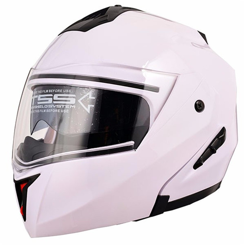 New Motorcycle Helmet Flip Up Motocross Helmet Capacete Da Motocicleta Cascos Moto Casque Doublel Lens Racing Riding Helmet#