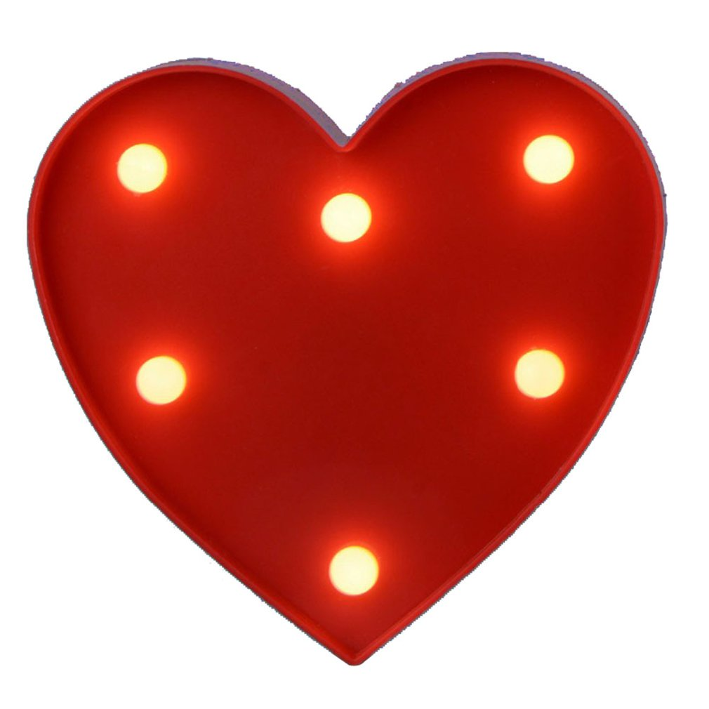 English Letter Big Red Love Light For Modeling Lights Wedding Digital Lights Birthday Wedding Marriage Proposal White Light