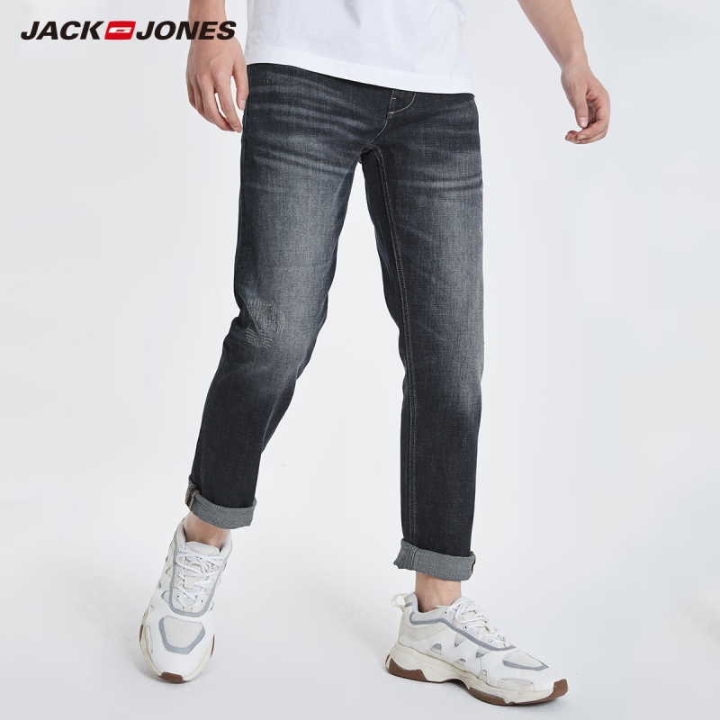 JackJones Men's Slim Fit Stretch Jeans Ankle-length Denim Pants Basic Menswear| 219132568
