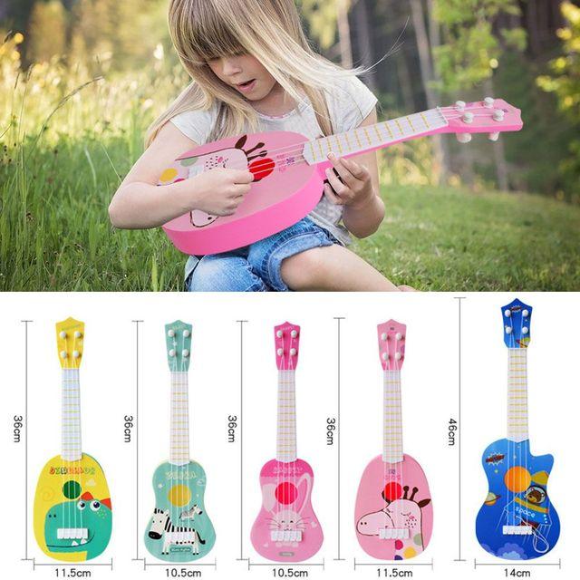 1pc Kids Funny Ukulele Musical Instruments Kids Guitar Montessori Toys for Children School Play Games Education Boys Girls 1