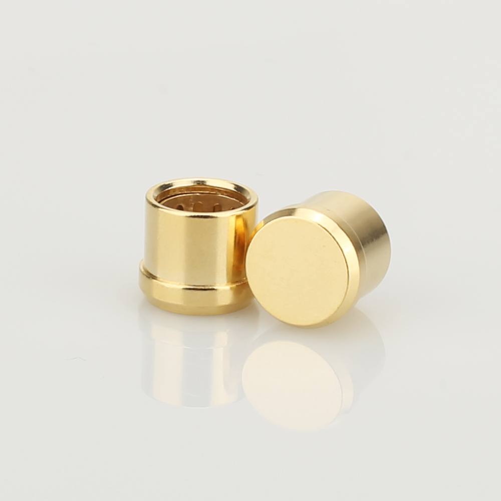 8Pcs  Gold Plated  Short Circuit Socket Phono Connector RCA Shielding Jack Socket Protect Cover Caps