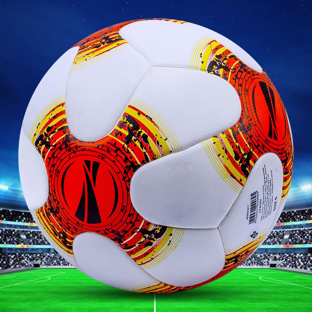 2019 Professional Size 5 Football Premier Faux Leather Seamless Football Soccer Ball Goal Team Match Training Soccer Ball