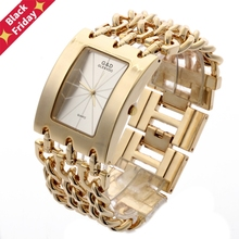 G&D Luxury Golden Women's Quartz Wristwatch Women's Bracelet Watch Relogio Feminino Women Dress Clock Reloj Mujer Jelly Gifts