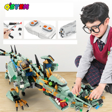 Jurassic World Dinosaurs Legoinglys Toys Technic RC Building Blocks Fit 2020 Creator APP Remote Control Bricks Plastic Unisex