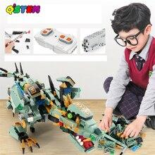 Jurassic mundo dinossauros legoinglys brinquedos técnica rc blocos de construção caber 2020 criador app controle remoto tijolos plástico unisex