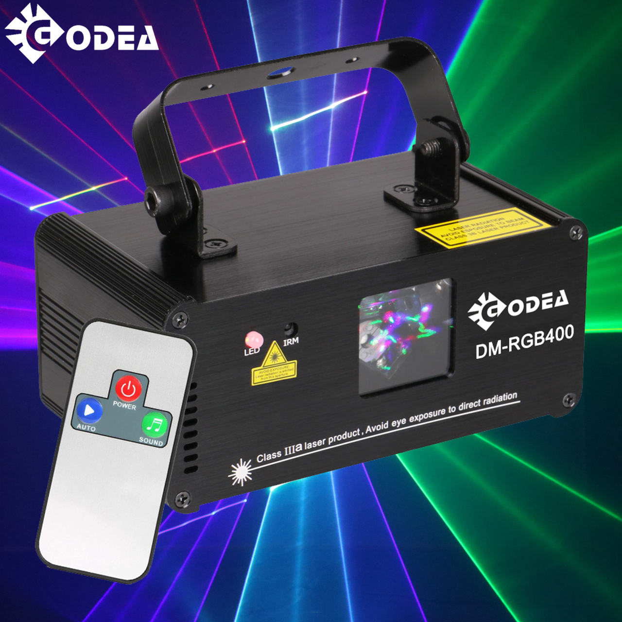 GODEA Remote RGB Laser Beam Scanner Stage Lighting Effect DMX Laser Projector Lumiere Disco Dj Party Club Holiday Wedding Lights