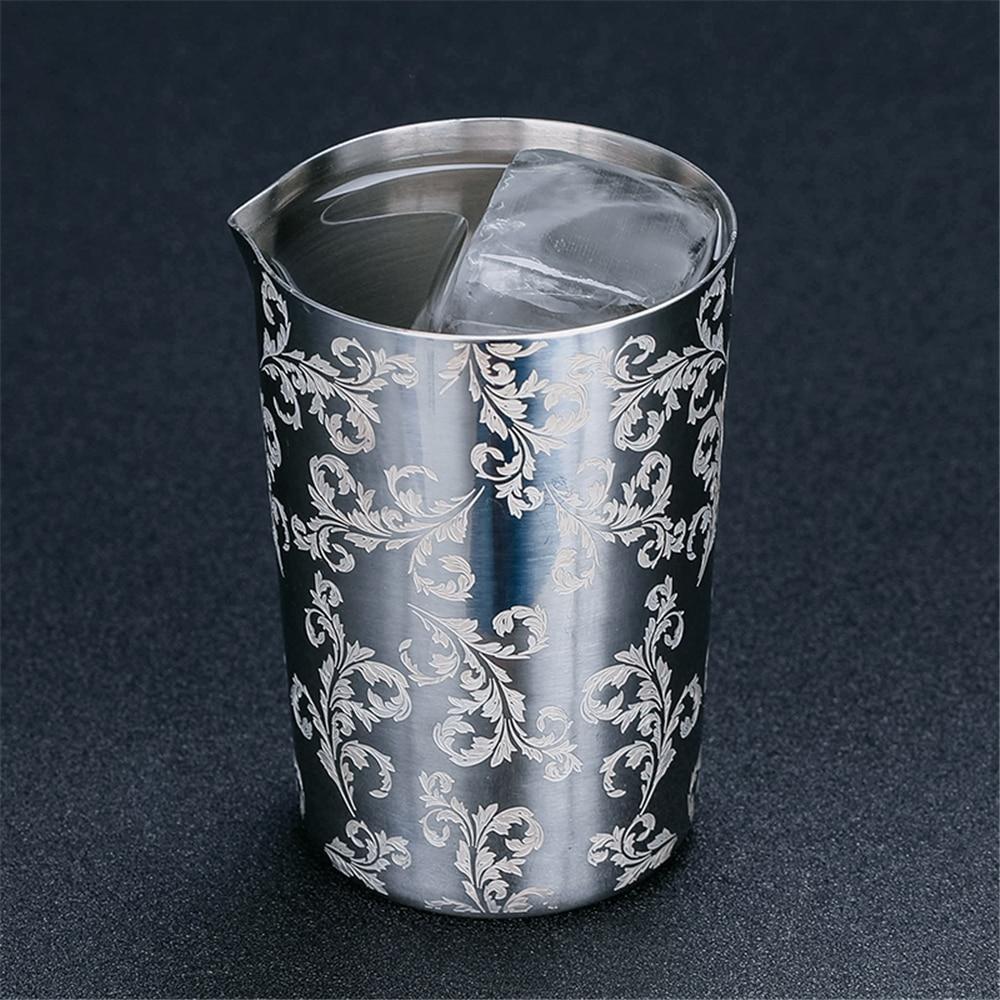 Cocktail de mistura de aço inoxidável vidro agitando estanho 500ml preferido por profissionais e amadores fazem seu próprio coquetel de especialidade