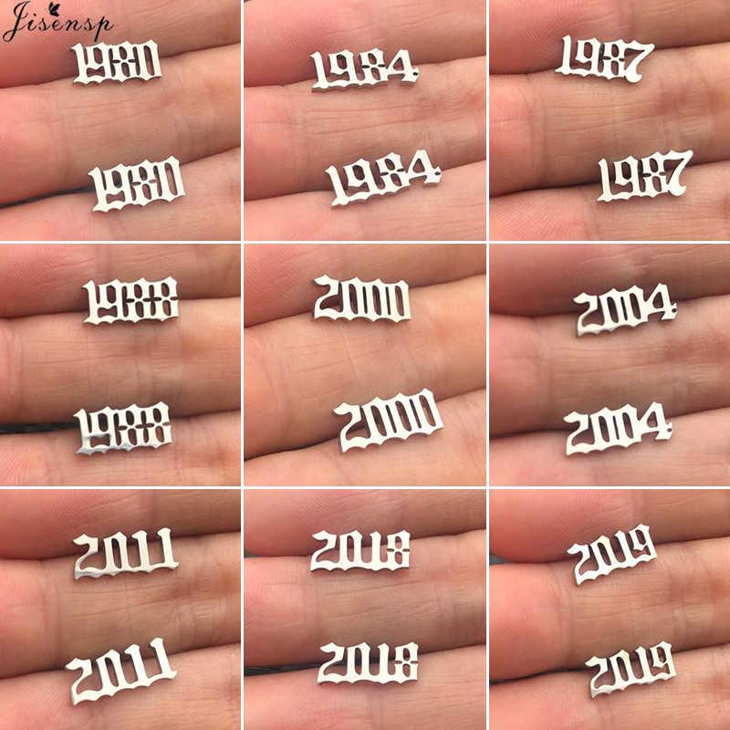 Jisensp biżuteria na zamówienie specjalne data rok numer naszyjnik dla kobiet dzieci 1994 1996 1999 od 1980 do 2019 Hip Hop mężczyźni Collares