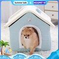 HOOPET Hund Haus Innen Warmen Zwinger Haustier Katze Cave Nest Kaninchen Nest Waschbar Abnehmbare Matte Gemütliche Bett Für Katzen