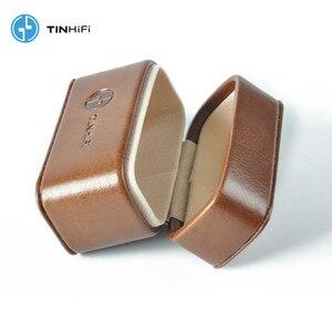 Image 2 - TinHifi 주석 오디오 미니 핸드백 이어폰 하드 박스 가방 헤드폰 케이스 휴대용 Pu 가죽 헤드셋 보관 가방