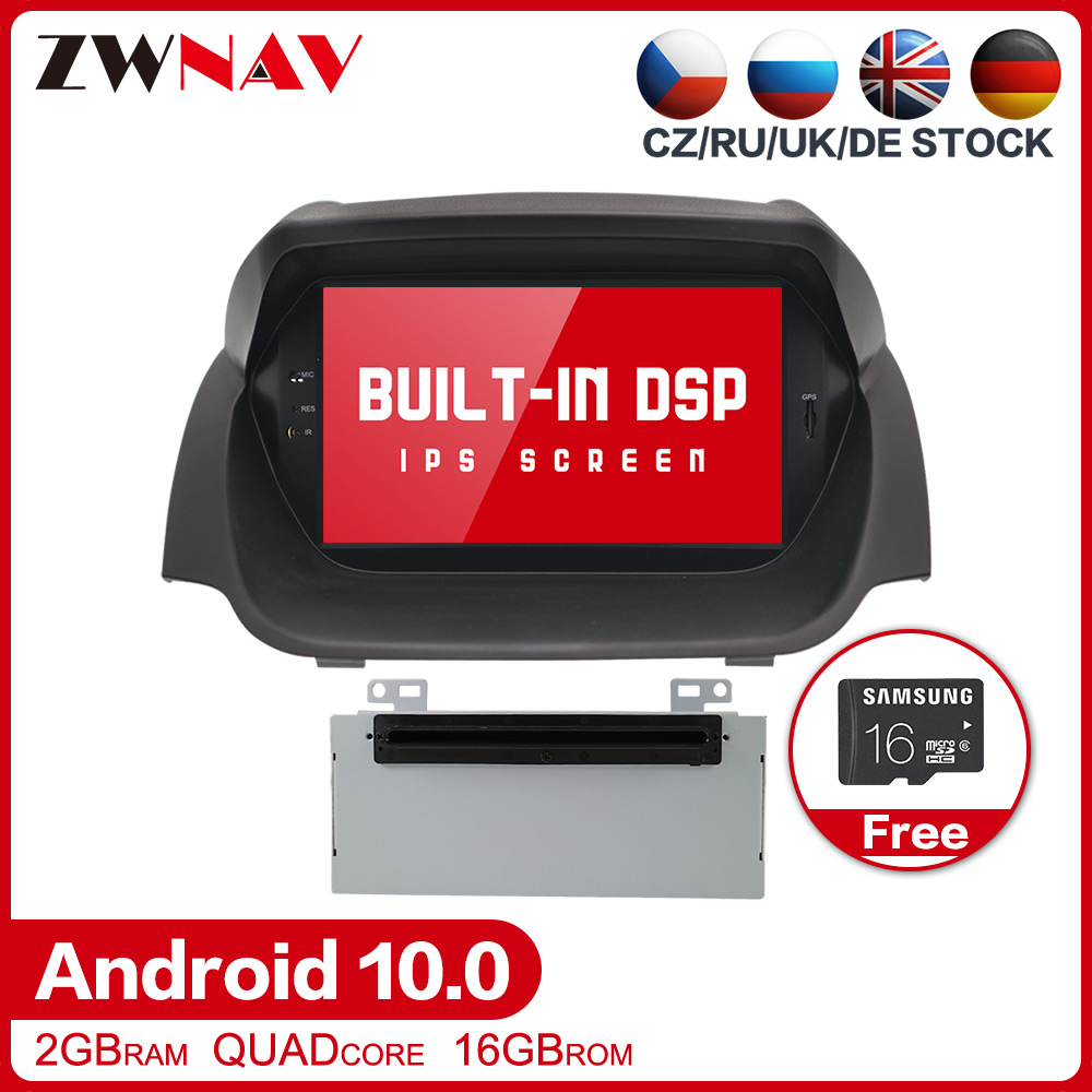 Android 10.0 Car multimedia Stereo Player <font><b>GPS</b></font> Glonass Navigation for <font><b>Ford</b></font> <font><b>Fiesta</b></font> 2013 -2016 Radio stereo head unit wifi free map image