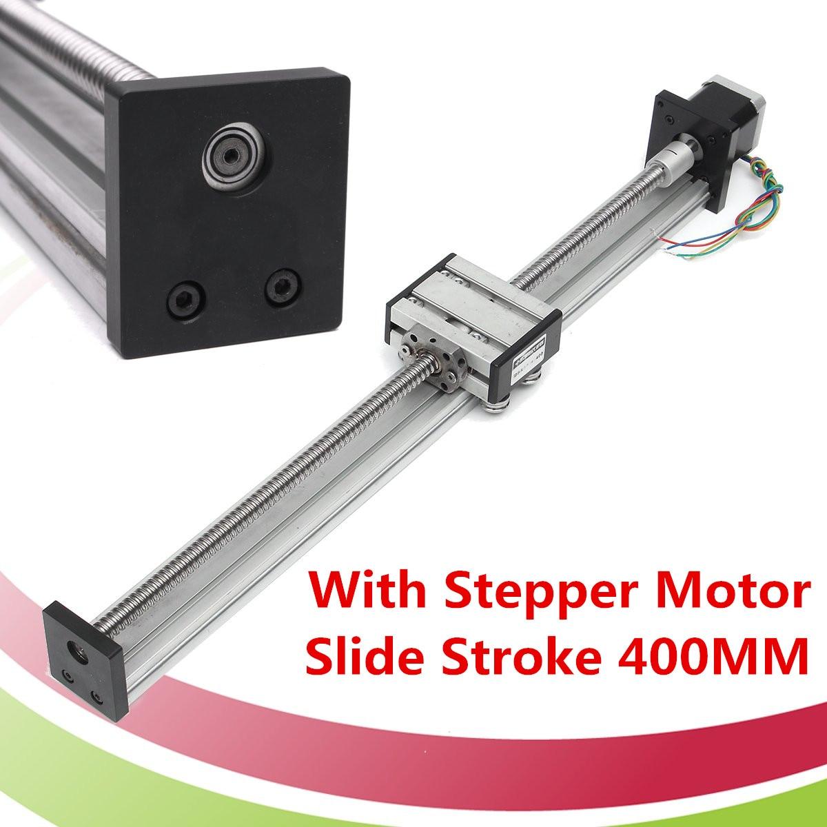 400MM1204 Ball Screw Linear CNC Z Axis Slide Stroke  Actuator Stepper Motor Kit  DIY Linear Motion Milling Kit