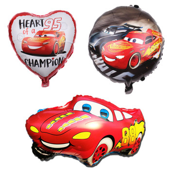 1pcs/lot 66*45cm/18 inch Cartoon Cars Mai Kun Aluminum Balloon Inflatable Helium Foil Balloons Toys Kids Birthday Party Supplies image