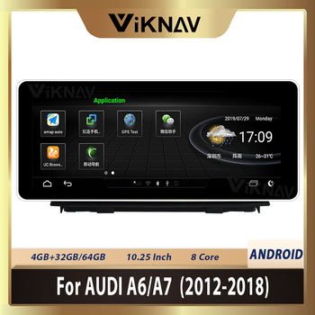 10.25 Inch Car Multimedia Player For-AUDI A6 A7 2012 2013 2014 2015 2016 2017 2018 Android Car Radio Payler GPS Navigation Wifi image